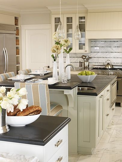72 Beautiful Kitchen Countertop Ideas with White Cabinets Look Luxurious 2236