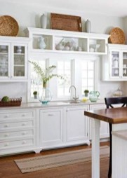 72 Beautiful Kitchen Countertop Ideas with White Cabinets Look Luxurious 2249