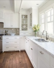 72 Beautiful Kitchen Countertop Ideas with White Cabinets Look Luxurious 2259