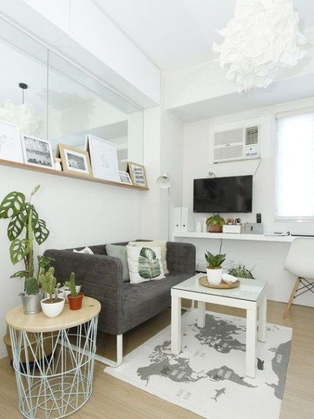 92 Amazing Living Room Designs and Ideas for Your Studio Apartment 2829