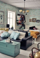 92 Amazing Living Room Designs and Ideas for Your Studio Apartment 2839