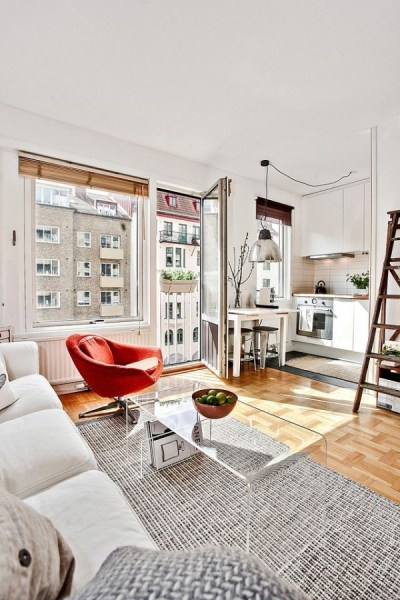 92 Amazing Living Room Designs and Ideas for Your Studio Apartment 2863