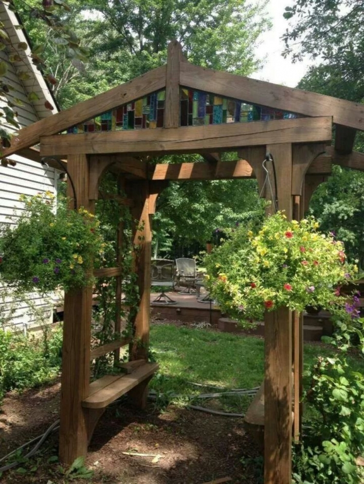 84 Backyard Decoration Ideas for Transform Your Backyard with A Quality Wood Pergola or Arbor 6377
