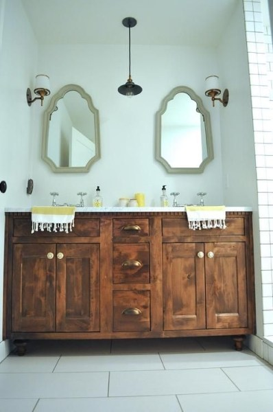 91 Modern Double Bathroom Vanity - is Your Modern Double Bathroom Vanity Large Enough to Accommodate Two People Simultaneously? 5918