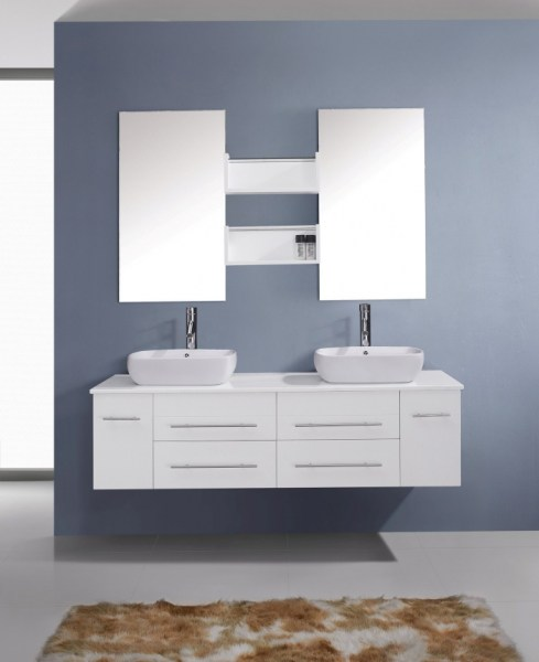 91 Modern Double Bathroom Vanity - is Your Modern Double Bathroom Vanity Large Enough to Accommodate Two People Simultaneously? 5959