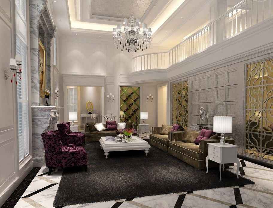 83 Interior Design Models That Look Luxurious And Are Designed To Decorate The Living Room 20
