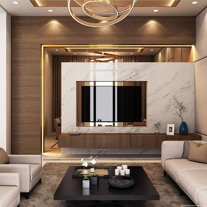 83 Interior Design Models That Look Luxurious And Are Designed To Decorate The Living Room 65
