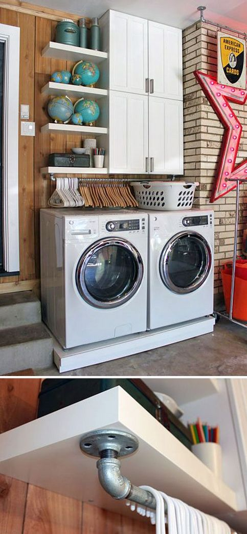 87 Outstanding Basement Laundry Rooms Decoration Models 22
