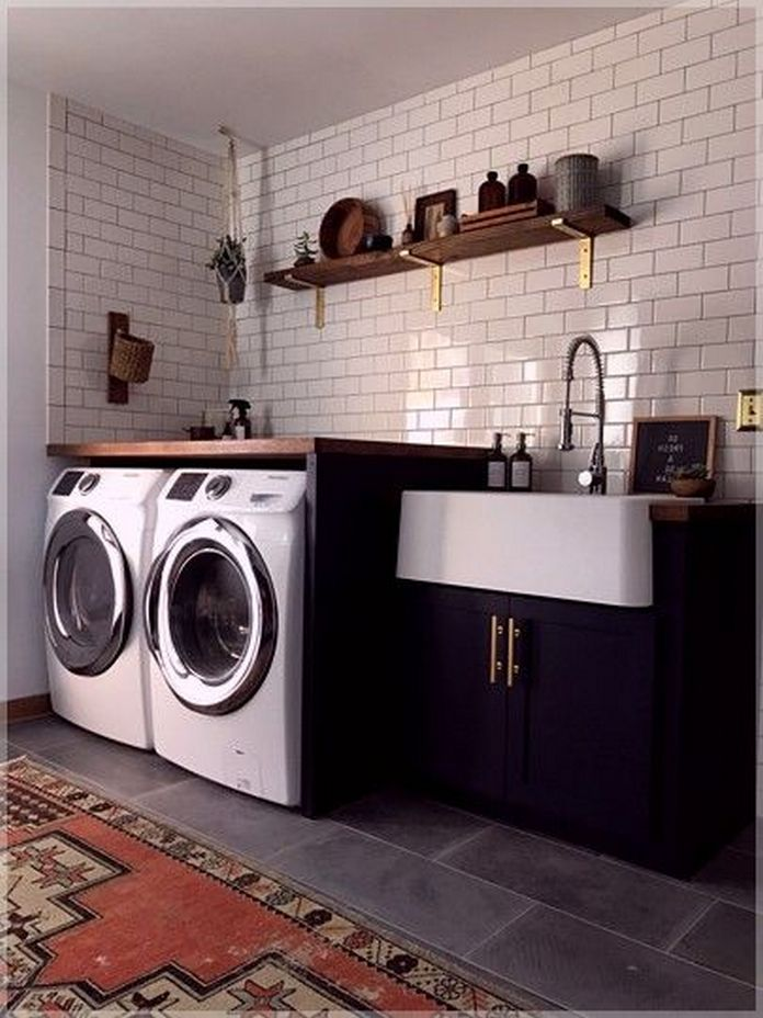 87 Outstanding Basement Laundry Rooms Decoration Models 27