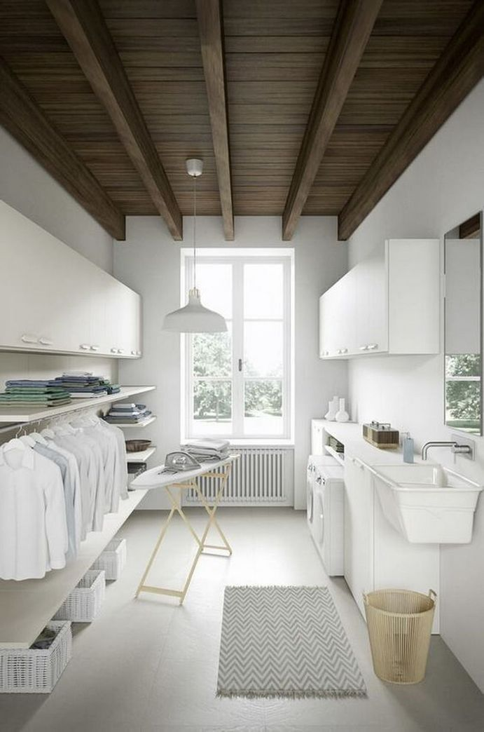 87 Outstanding Basement Laundry Rooms Decoration Models 3