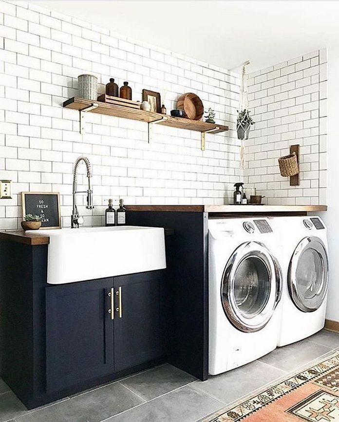 87 Outstanding Basement Laundry Rooms Decoration Models 59