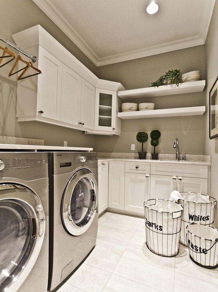 87 Outstanding Basement Laundry Rooms Decoration Models 79