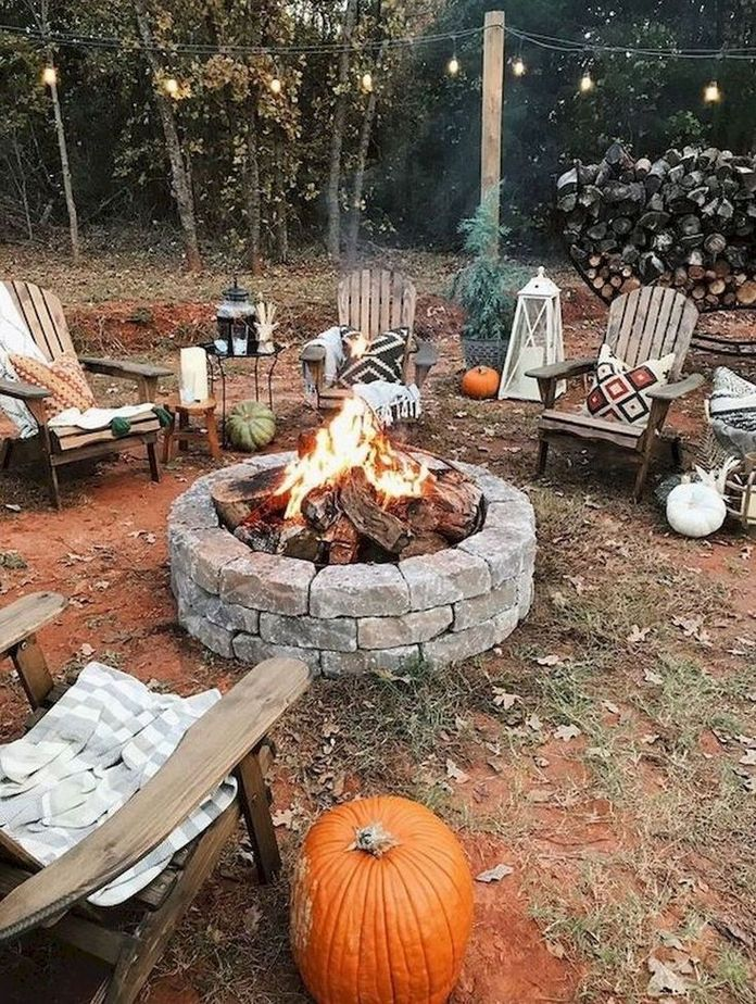 90 Fun Decoration Models Of Backyard Fire Pit Area 42