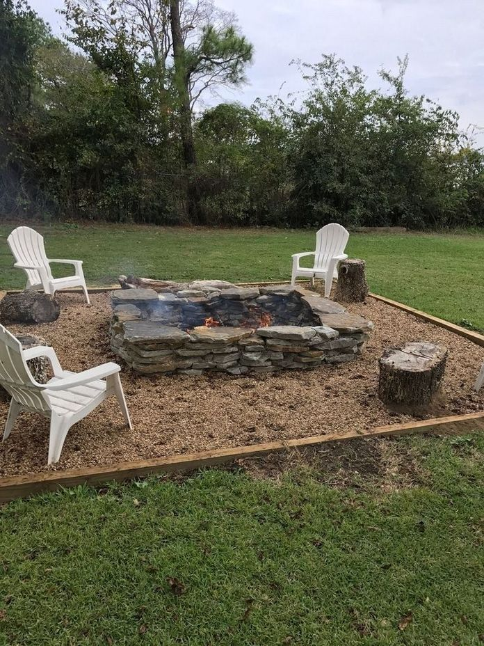 90 Fun Decoration Models Of Backyard Fire Pit Area 60