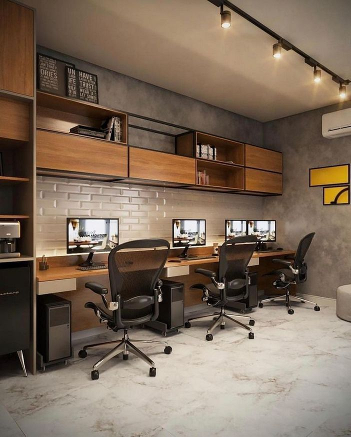 95 Modern Office Decorating Ideas With Inspiring Furniture To Add Style And Functionality To Your Workplace 55