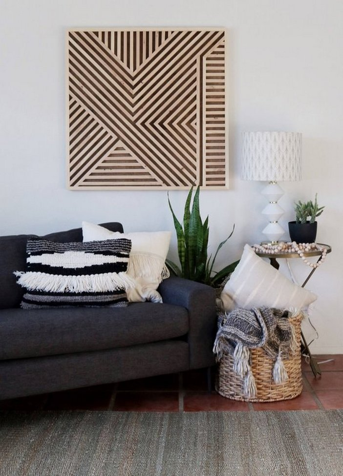 96 Modern Wall Decor Models That Make The Living Room Of Your House Come Alive 70