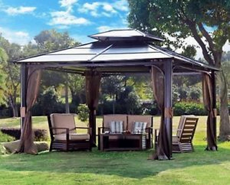 97 Great Patio Gazebo Canopy Design Ideas That Are Great For Replacing Your Gazebo Canopy 20