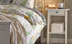 Bedroom Decor Models With Solid Wood Tables With Beautiful Drawers Beside 11