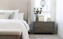 Bedroom Decor Models With Solid Wood Tables With Beautiful Drawers Beside 27