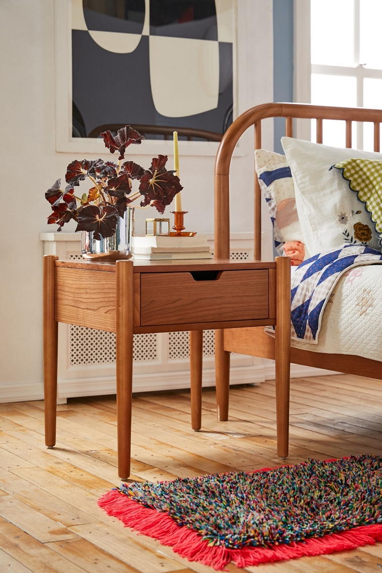 Bedroom Decor Models with solid Wood Tables with Beautiful Drawers Beside 11242