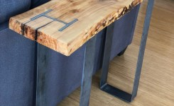 Live Edge Wood Console Table 53