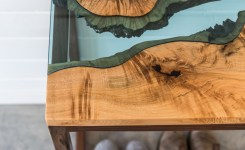 Live Edge Wood Console Table 57