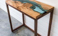 Live Edge Wood Console Table 59