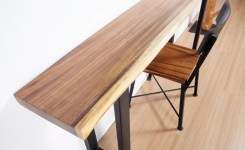 Live Edge Wood Console Table 62