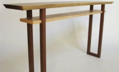 Live Edge Wood Console Table 65