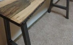 Live Edge Wood Console Table 76