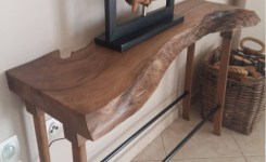 Live Edge Wood Console Table 8