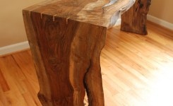 Wood Waterfall Console Table 15