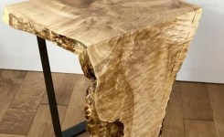 Wood Waterfall Console Table 70