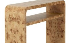 Wood Waterfall Console Table 71