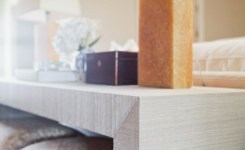 Wood Waterfall Console Table 72