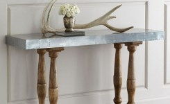 Wood Waterfall Console Table 87