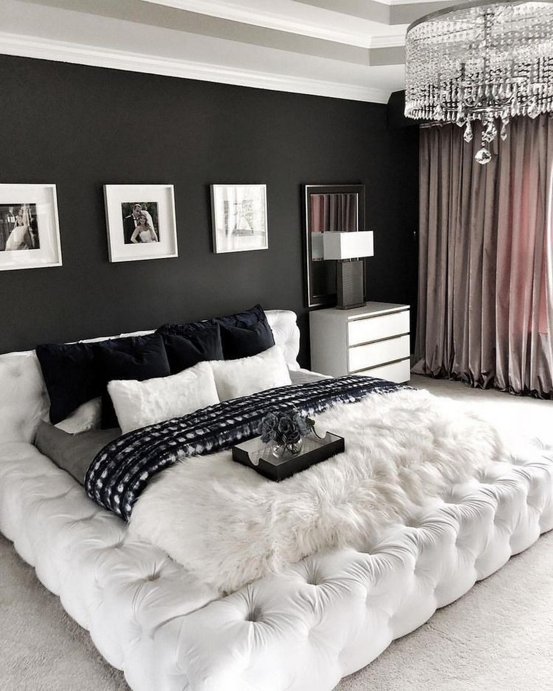 ✔25 Classy And Impressive Modern Black And White Bedroom Decor Styles