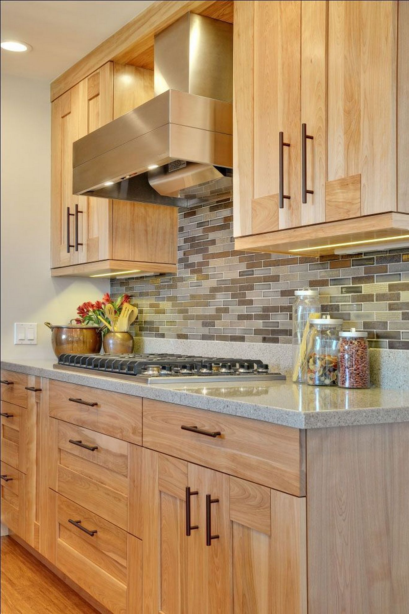 ✔29 Awesome Rustic Hickory Kitchen Cabinets