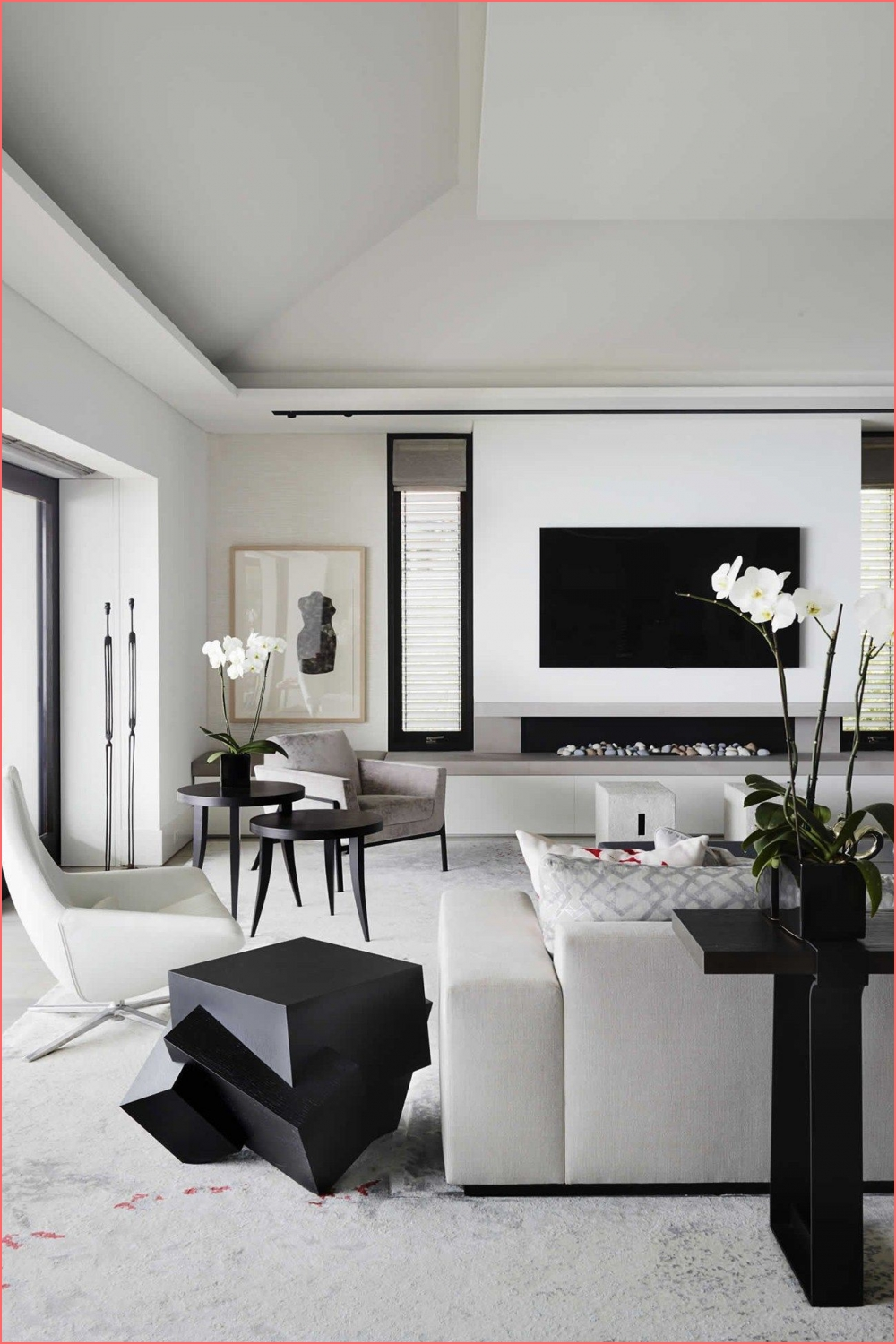 Abstract Art Black contemporary living rooms design on modern monochromatic living room on modern monochromatic living room post on 2020-11-21 16:24:24