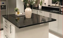 Grey Gloss Kitchen And Island On Black And Grey Kitchen Of Black And Grey Kitchen