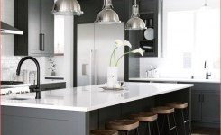 Mini Makeover Black Is Back In The Kitchen Coco Kelley On Black And Grey Kitchen Of Black And Grey Kitchen