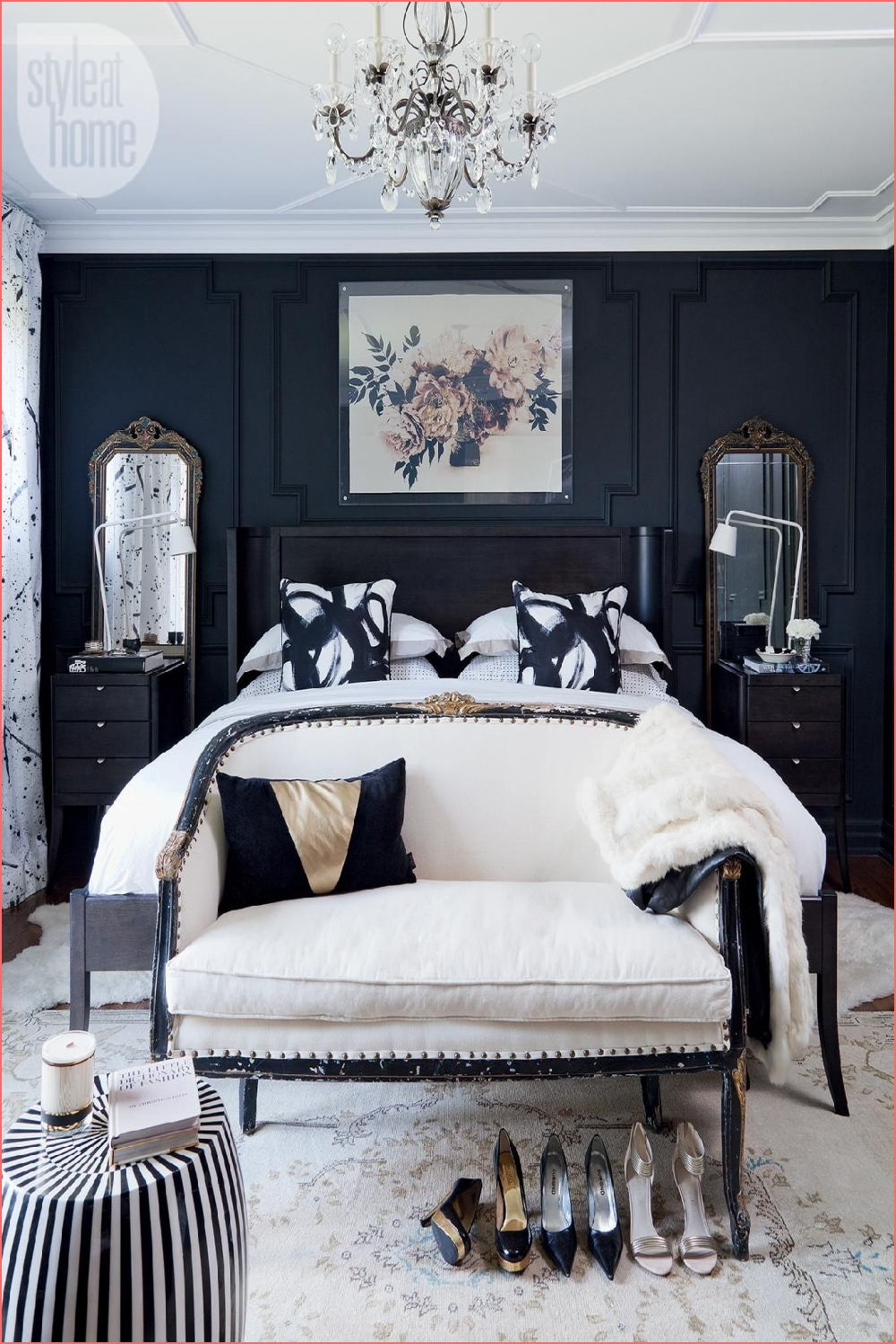 Pin on Interiors on luxury black and white bedroom on luxury black and white bedroom post on 2020-11-21 16:53:49