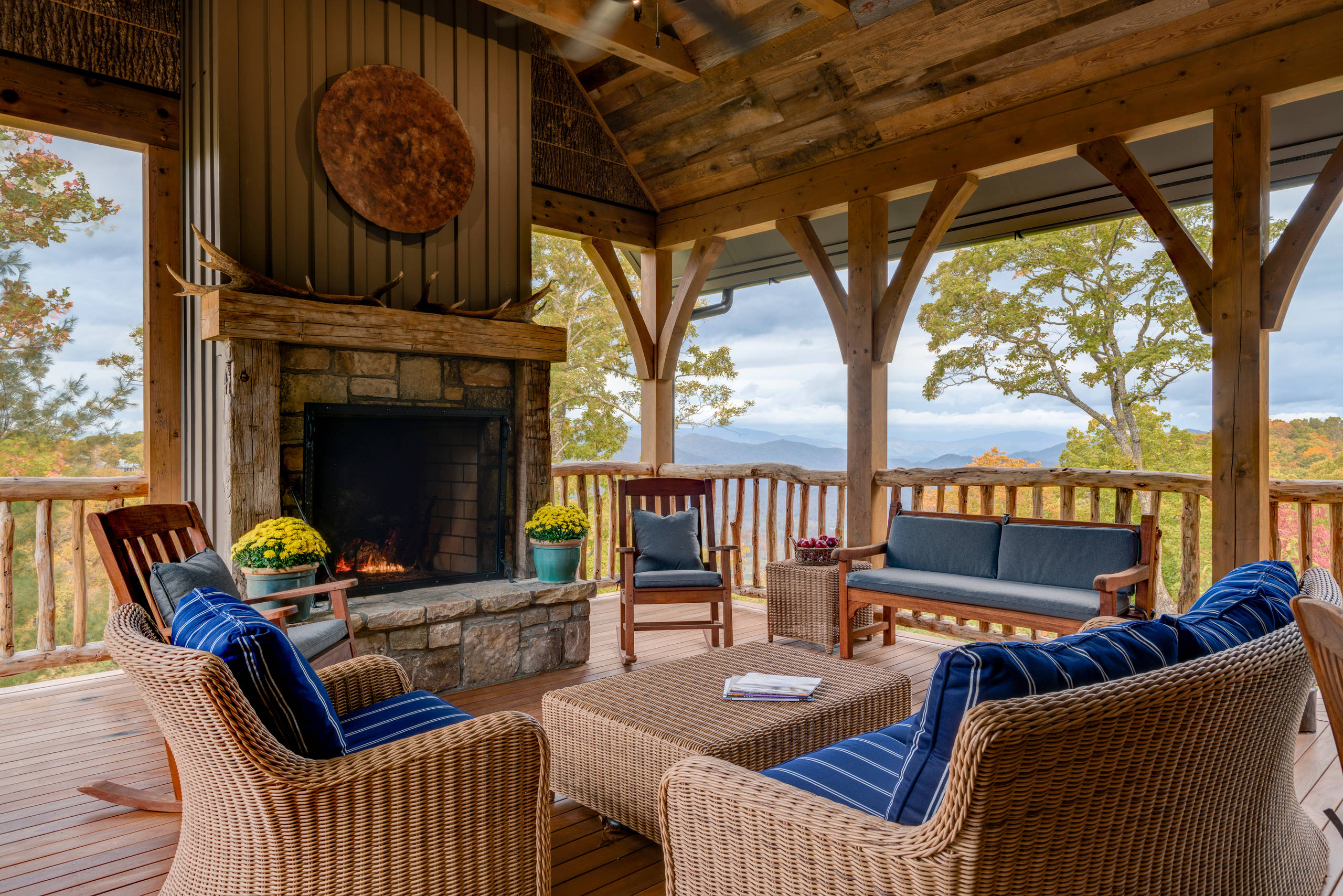15 Amazing Rustic Deck Designs That Will Enhance Your ... on Patio With Deck Ideas id=52594