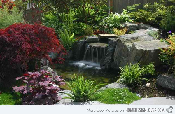 15 Pond Landscaping Designs for Your Garden - Decoration ... on Backyard Pond Landscaping Ideas id=50552