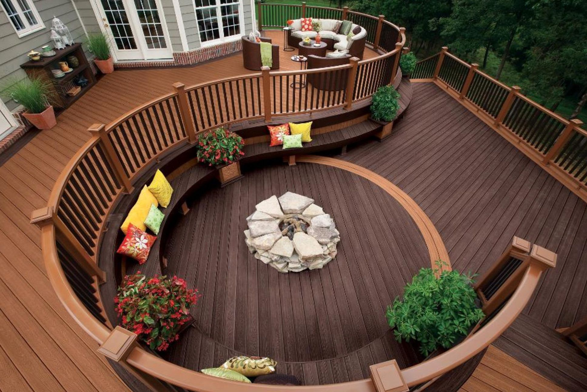 3 Brilliant Fire Pit Ideas for Your House - MidCityEast on Backyard Wood Patio Ideas id=72657