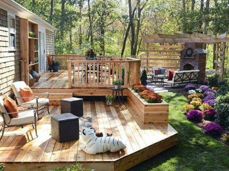 25 Beautiful Backyard Wooden Deck Design Ideas That You ... on Small Back Deck Decorating Ideas id=67617