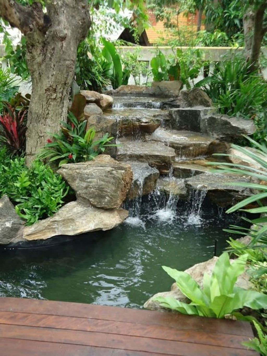 41 Awesome Small Waterfall Pond Landscaping Ideas Backyard ... on Small Pond Waterfall Ideas id=57761