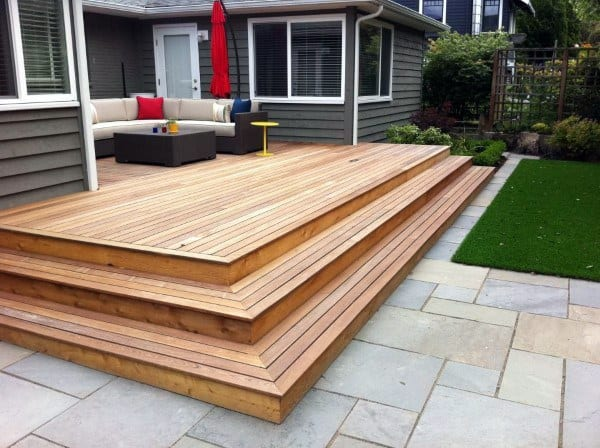 Top 60 Best Backyard Deck Ideas - Wood And Composite ... on Simple Back Deck Ideas id=57155