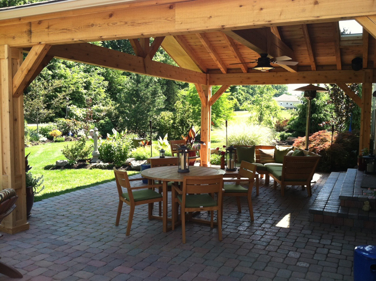 Let the sun shine through with an open porch design in ... on Open Backyard Ideas id=20432