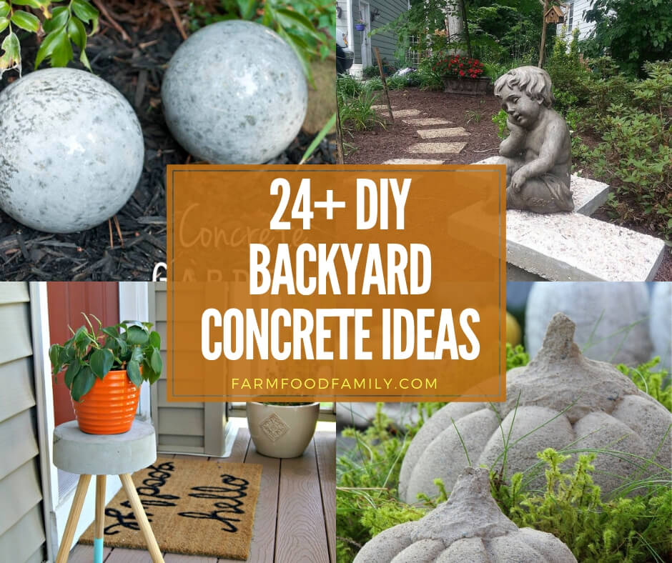 28+ Best Concrete Patio Ideas & Designs Will Beautify Your ... on Diy Back Patio Ideas id=83735